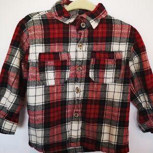 Button Down Long Sleeve Shirt; 18 Months